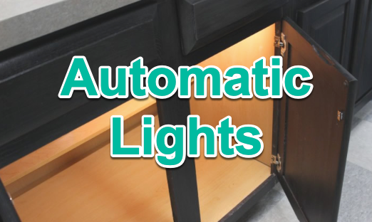 how to make led lights turn on when door opens